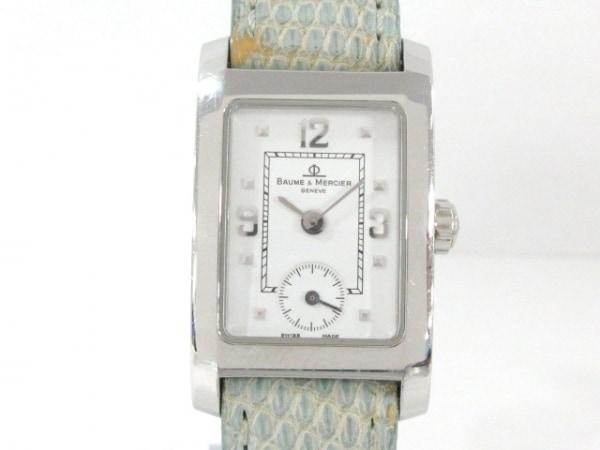 BAUME&MERCIER(ボーム&メルシエ) 腕時計 ハンプトン MV045139 レディース 革ベルト 白
