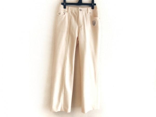 バレンザ パンツ サイズ38 M レディース美品  ライトベージュ ラインストーン