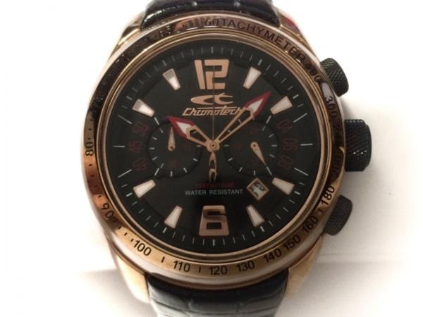 CHRONOTECH(クロノテック) 腕時計 7926M メンズ 革ベルト/型押し加工 黒