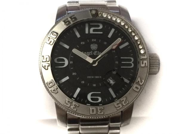 Angel Clover(エンジェルクローバー) 腕時計 SC44 メンズ ラインストーン 黒