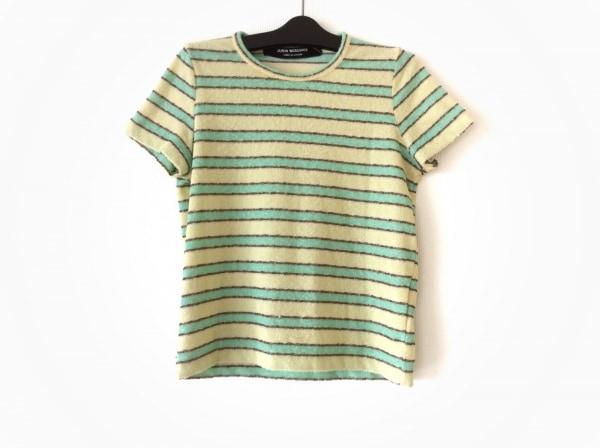 コムデギャルソンジュンヤワタナベ 半袖Tシャツ メンズ イエロー×グリーン×ブラウン