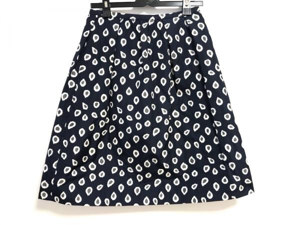 HYALINES(ハイアリン) スカート サイズ38 M レディース美品  ネイビー×白×グレー