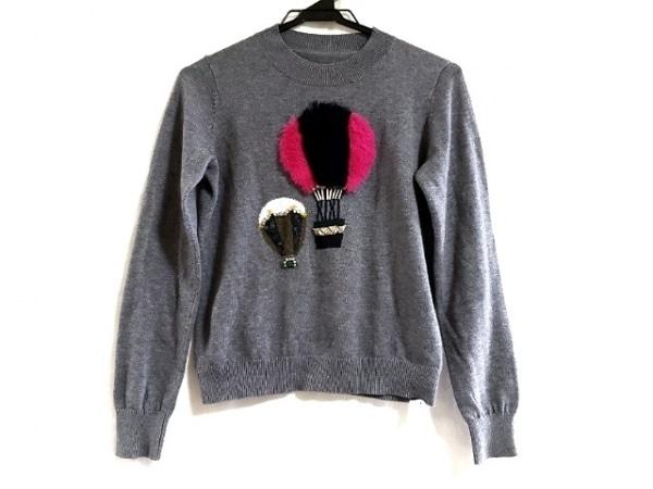 Chesty(チェスティ) 長袖セーター サイズF レディース美品  ダークグレー×マルチ