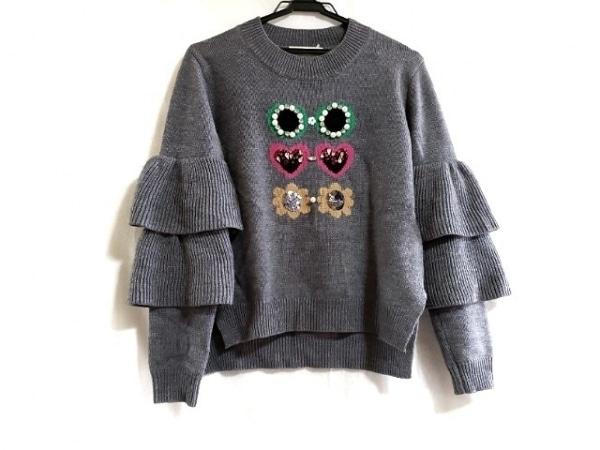 Chesty(チェスティ) 長袖セーター サイズF レディース ダークグレー×マルチ
