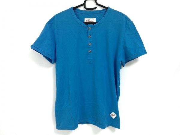 ワイメアクラシック 半袖カットソー サイズM メンズ美品  ブルー ヘンリーネック