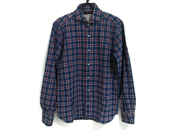 ORIAN(オリアン) 長袖シャツ サイズM メンズ美品  ブルー×レッド×白