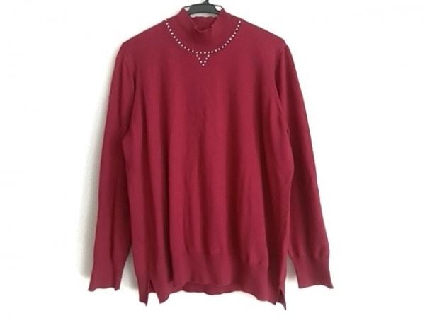 バレンザ 長袖セーター サイズ48 XL レディース ボルドー ハイネック/ラインストーン