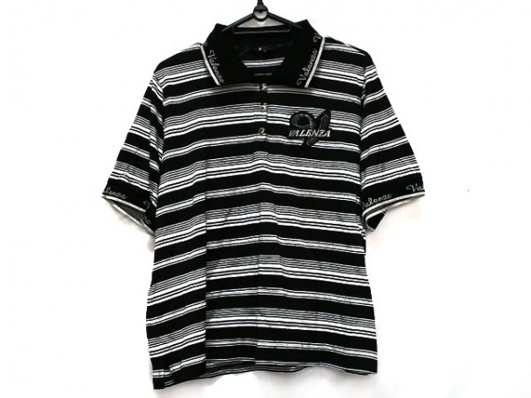 VALENZA(バレンザ) 半袖ポロシャツ サイズ48 XL レディース 黒×白