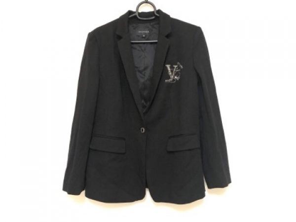VALENZA(バレンザ) ジャケット サイズ42 L レディース 黒 ラインストーン
