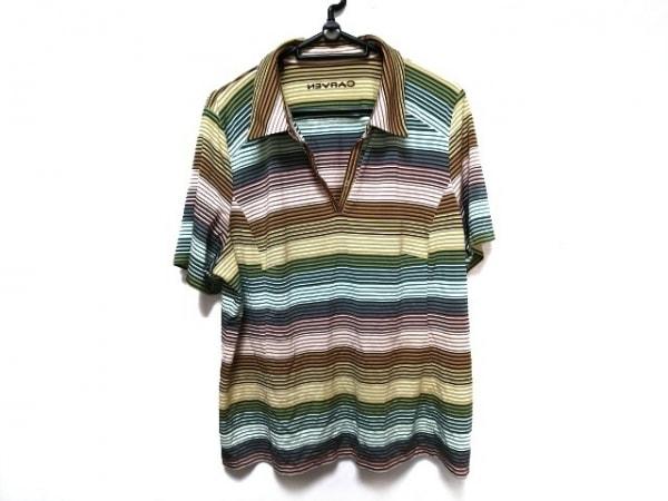 CARVEN(カルヴェン) 半袖ポロシャツ サイズ48 XL レディース美品  ボーダー