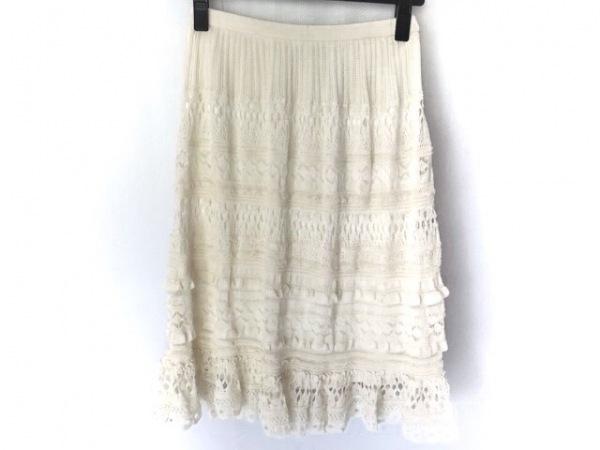 YOKO D'OR(ヨーコドール) スカート サイズ38 M レディース美品  アイボリー
