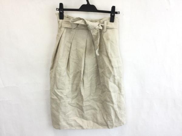SWINSWING(スウィンスウィング) スカート レディース美品  ベージュ 麻