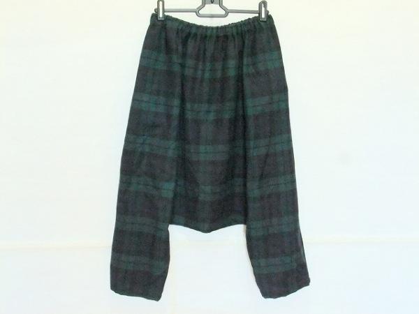 a.(エードット) パンツ サイズS レディース グリーン×黒×ネイビー チェック柄