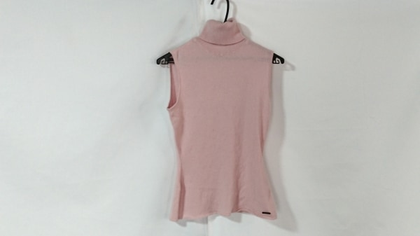 フォクシー ノースリーブセーター サイズ40 M レディース美品  ピンク タートルネック