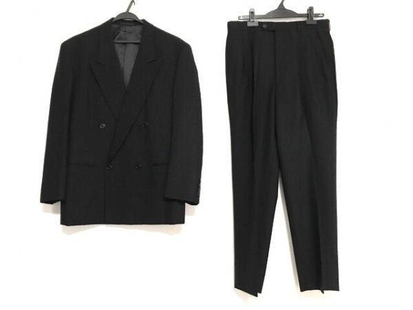 YvesSaintLaurent(イヴサンローラン) ダブルスーツ メンズ 黒 ネーム刺繍