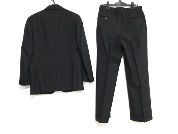 ブルックスブラザーズ シングルスーツ サイズA5 メンズ 黒×グレー ストライプ