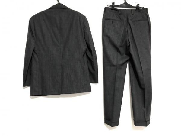 ブルックスブラザーズ シングルスーツ メンズ ダークグレー×グレー ストライプ