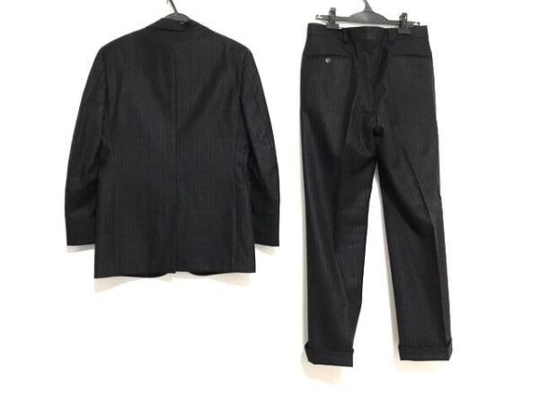 ブルックスブラザーズ シングルスーツ サイズYA5 メンズ 黒×グレー ストライプ/冬物