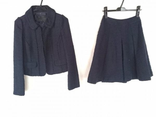トゥービーシック スカートスーツ サイズ38 M レディース ダークネイビー ビーズ