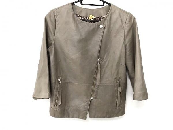 フランクウィーンセンス ジャケット サイズ38 M レディース ライトブラウン レザー