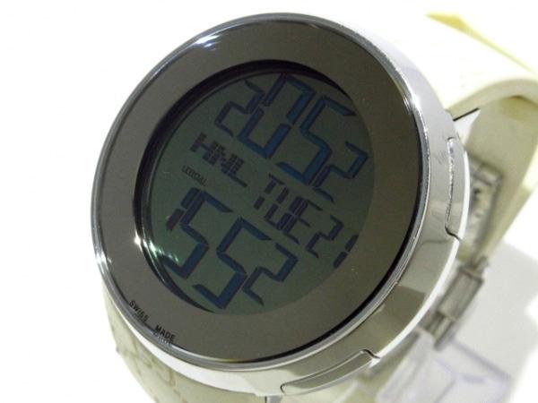 GUCCI(グッチ) 腕時計 I-GUCCI 316L レディース ラバーベルト グレー