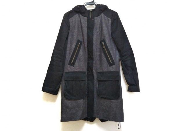 ギャバジンケーティ コート サイズ11 M レディース美品  黒×グレー 春・秋物