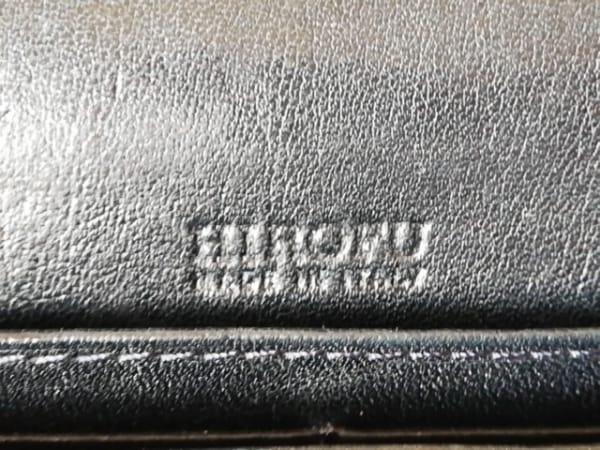 HIROFU(ヒロフ) 長財布 黒 型押し加工 レザー