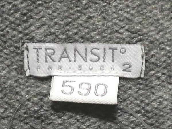 TRANSIT(トランジット) ワンピース サイズ2 M レディース美品  グレー×ライトグレー