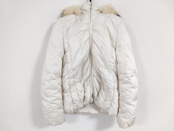 INED(イネド) ダウンジャケット サイズ7 S レディース美品  白 ファー/冬物
