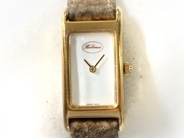 BORBONESE(ボルボネーゼ) 腕時計 2000 レディース 白