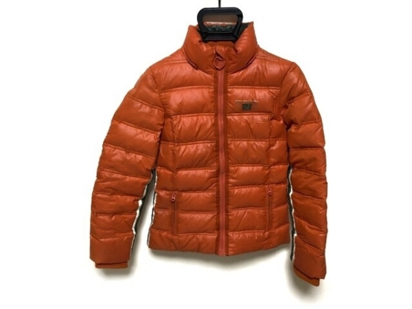 Replay(リプレイ) ダウンジャケット サイズXS レディース オレンジ×白×ダークグレー