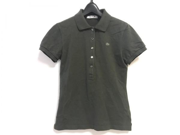 Lacoste(ラコステ) 半袖ポロシャツ サイズ36 S レディース ダークグリーン