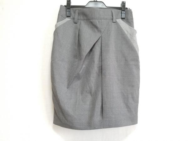 ブルネロクチネリ スカート サイズ40I レディース美品  グレー×ライトグレー