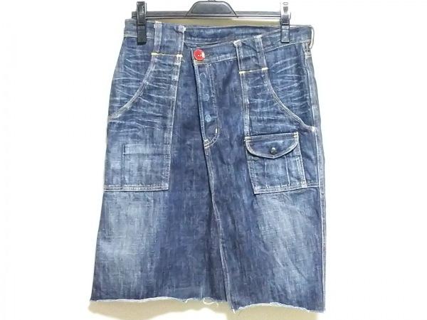 antgauge(アントゲージ) スカート サイズL レディース美品  ネイビー×アイボリー