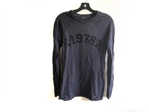DIESEL(ディーゼル) 長袖Tシャツ サイズS レディース美品  黒 フロック加工