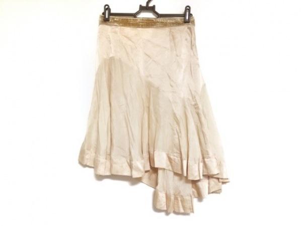ミスブルマリン スカート サイズI 38D 32 レディース ベージュ シルク/アシンメトリー