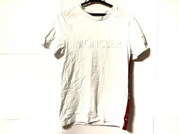 MONCLER(モンクレール) 半袖Tシャツ サイズS メンズ美品  白×レッド×マルチ
