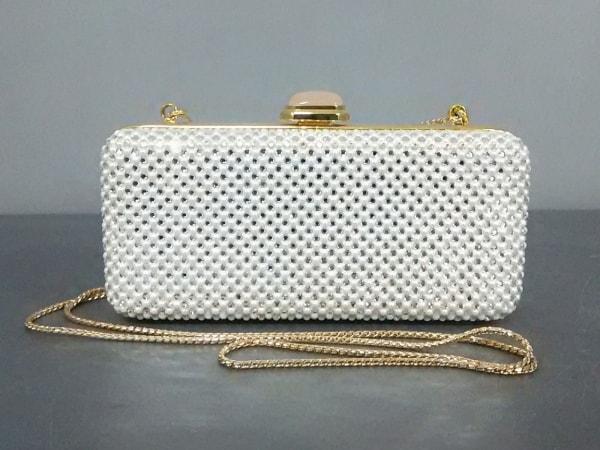 ジュディスリーバー ショルダーバッグ美品  白×マルチ ラインストーン