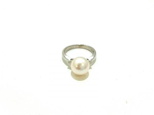 ノーブランド リング美品  Pt900×ダイヤモンド×カラーストーン クリア×ホワイト