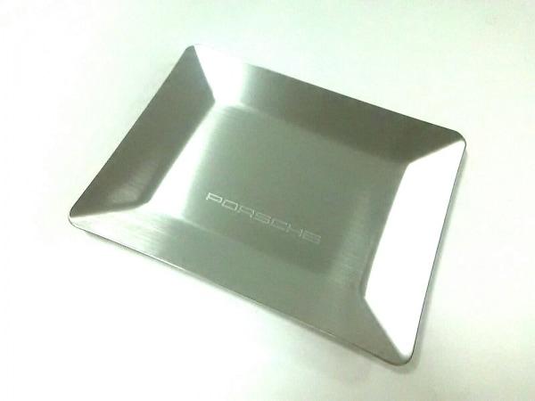 PORSCHE(ポルシェ) 小物美品  シルバー ノベルティ/トレー ステンレススチール