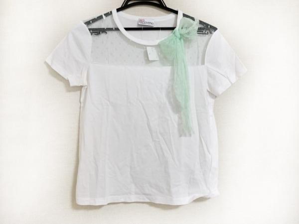 バレンチノ 半袖Tシャツ サイズS レディース美品  アイボリー×ライトグリーン