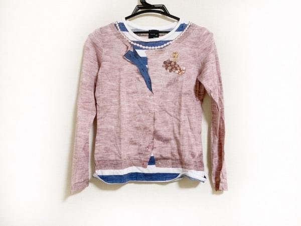 ポールスミス 長袖Tシャツ サイズS レディース美品  ピンク×ネイビー×アイボリー