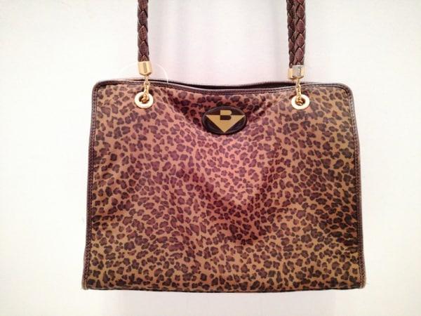 ボッテガヴェネタ ショルダーバッグ - - ブラウン×黒×ゴールド 豹柄