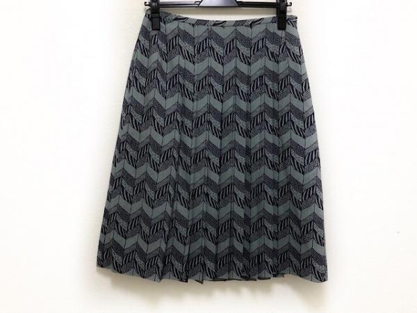【中古】 サリースコット Sally Scott スカート サイズ9 M レディース グレー 黒