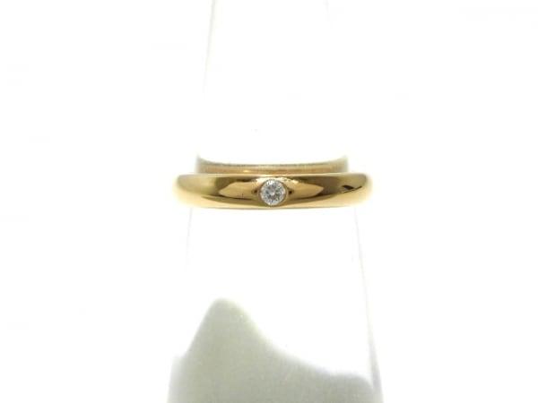 ハリーウィンストン リング美品  ラウンド・マリッジリング K18PG×ダイヤモンド