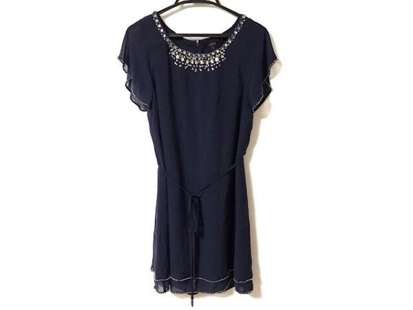 LEJOUR(ルジュール) ドレス サイズ38 M レディース美品  ネイビー ビジュー