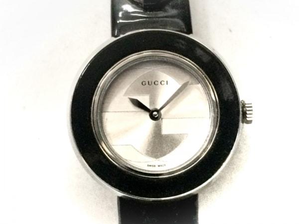 GUCCI(グッチ) 腕時計美品  - 129.5 レディース 革ベルト シルバー