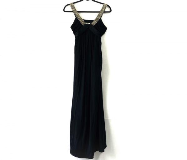 グレースクラス ドレス サイズ36 S レディース 黒 フェイクパール/ビジュー/マキシ丈