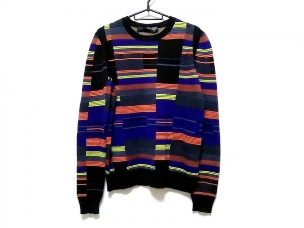 プロエンザスクーラー 長袖セーター サイズM レディース美品  黒×パープル×マルチ