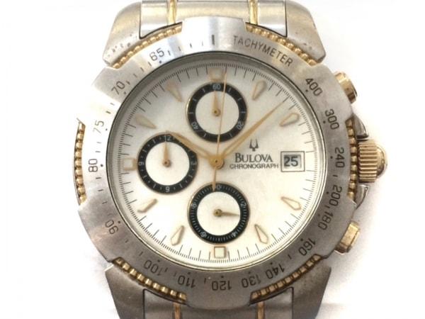 Bulova(ブローバ) 腕時計 - メンズ クロノグラフ 白